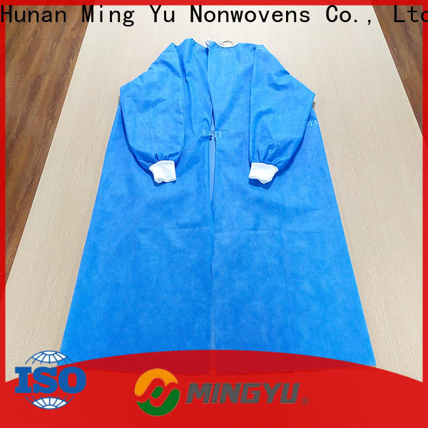 Ming Yu monitoring non-woven fabric manufacturing factory for home textile