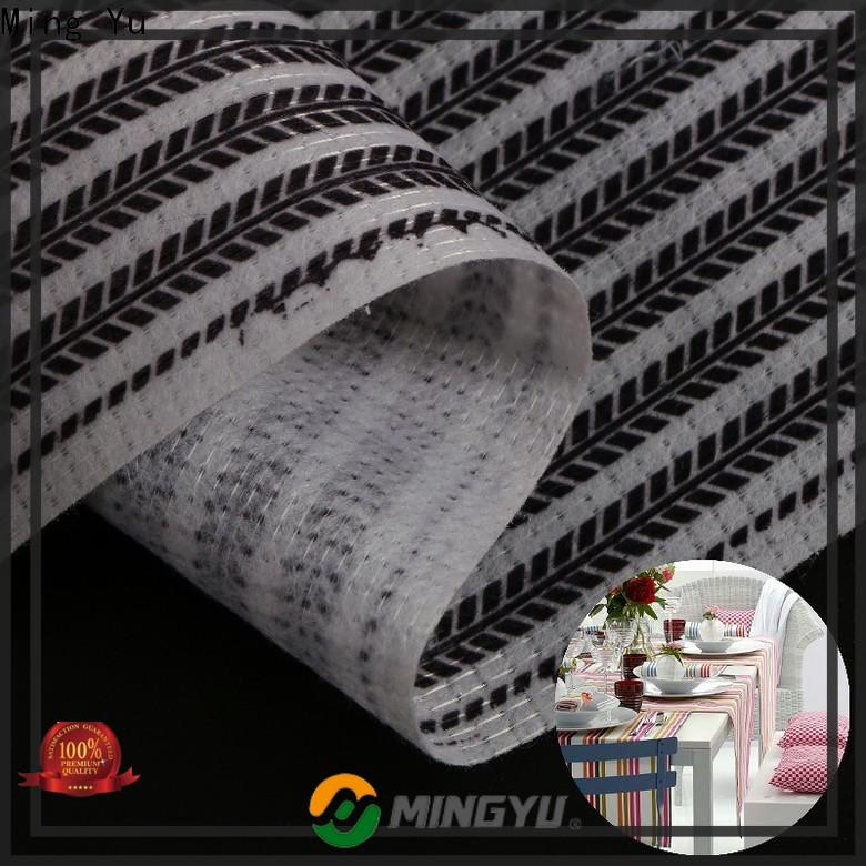 Ming Yu cost non-woven fabric manufacturing factory for home textile