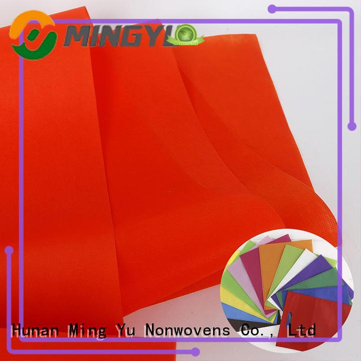 polypropylene non woven polypropylene fabric rolls for handbag Ming Yu