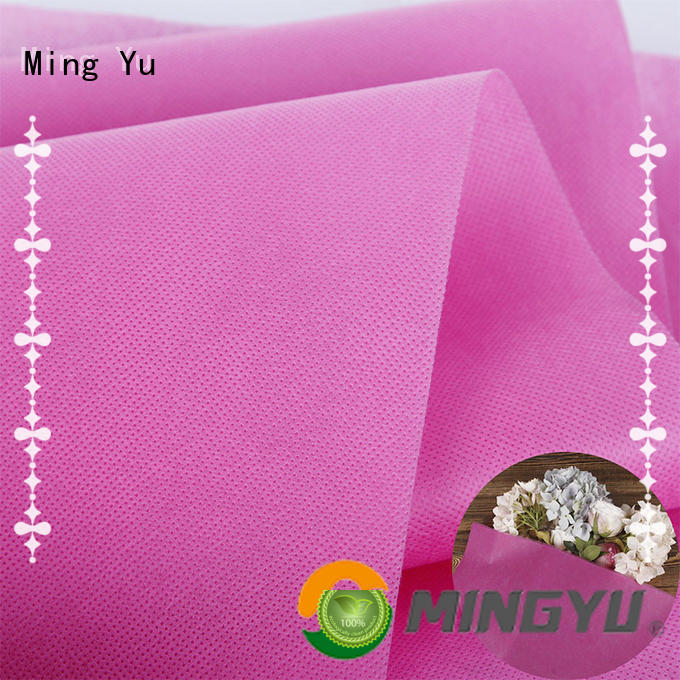 Ming Yu moistureproof pp spunbond nonwoven fabric handbag for storage