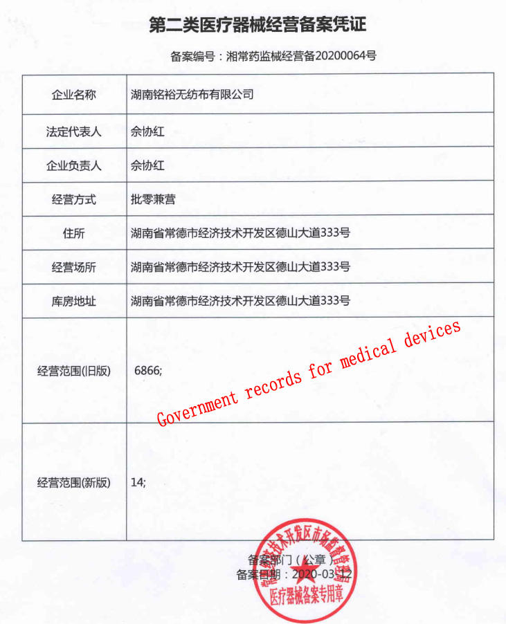Ming Yu New face mask material manufacturers for adult