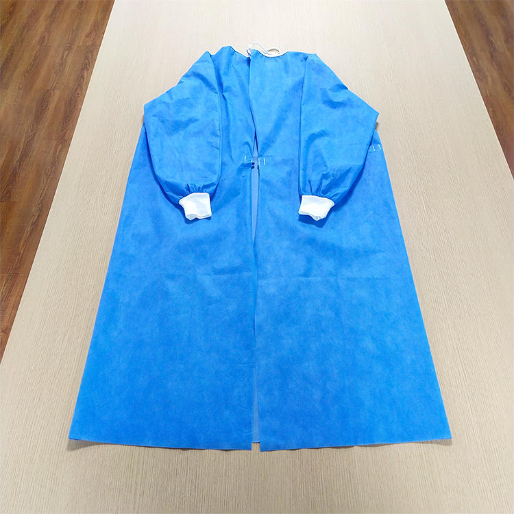 SMS non woven fabric material reverse wear surgical gown