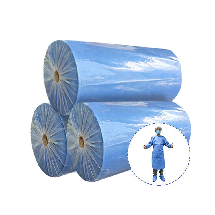 Suitable sms non-woven fabric for disposable isolation gown and surgical gown