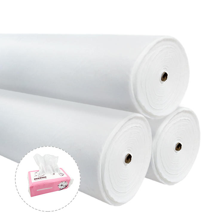 Spunlace fabric China manufacturer 40 gsm 50cm width cotton wet wipes