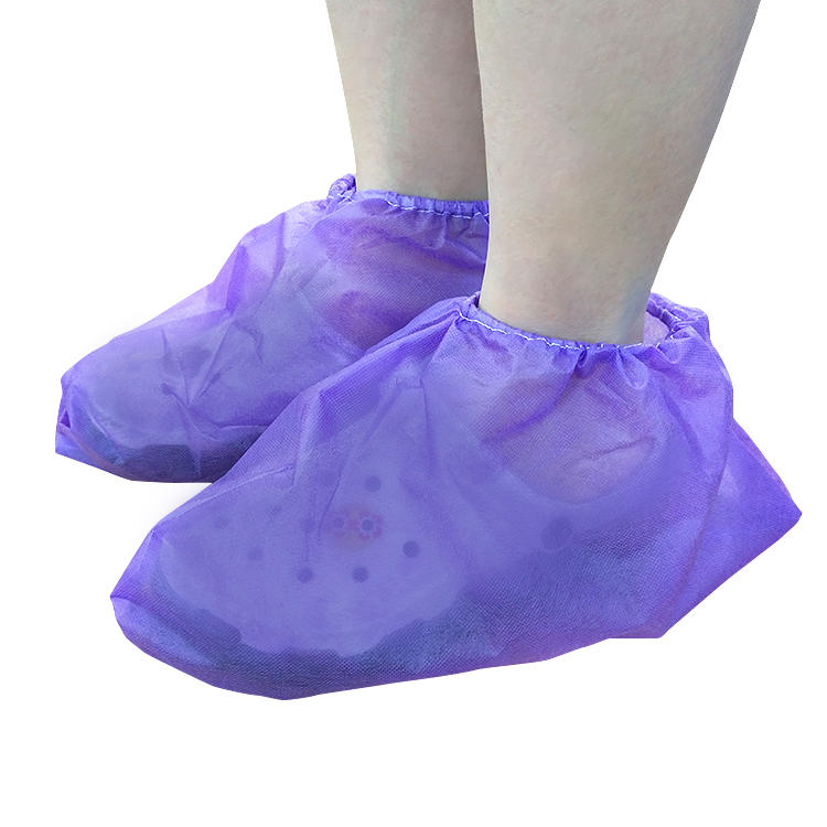 Disposable shoe covers customizable multi-color non woven fabric