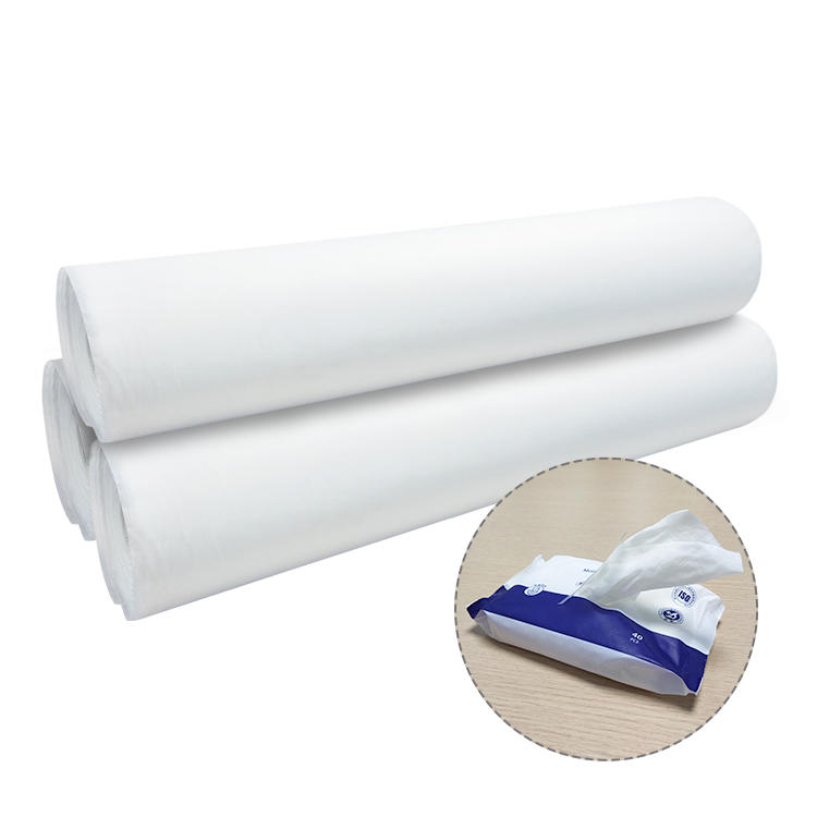 Toilet wipes can be washed away spunlace non-woven fabric