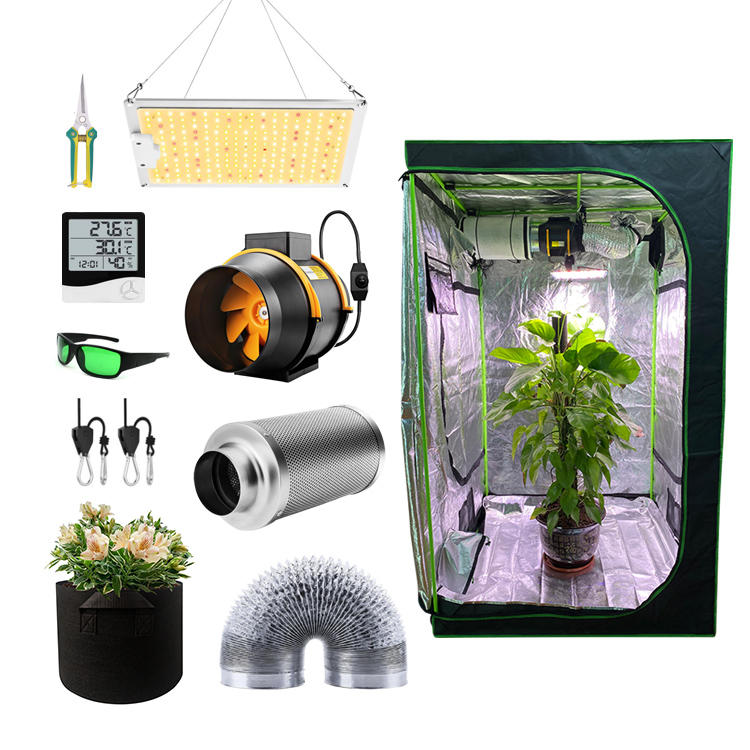 FACTORY Price custom cheap weed hydroponic indoor led complete kit grow tent for sale plant mini garden greenhouse