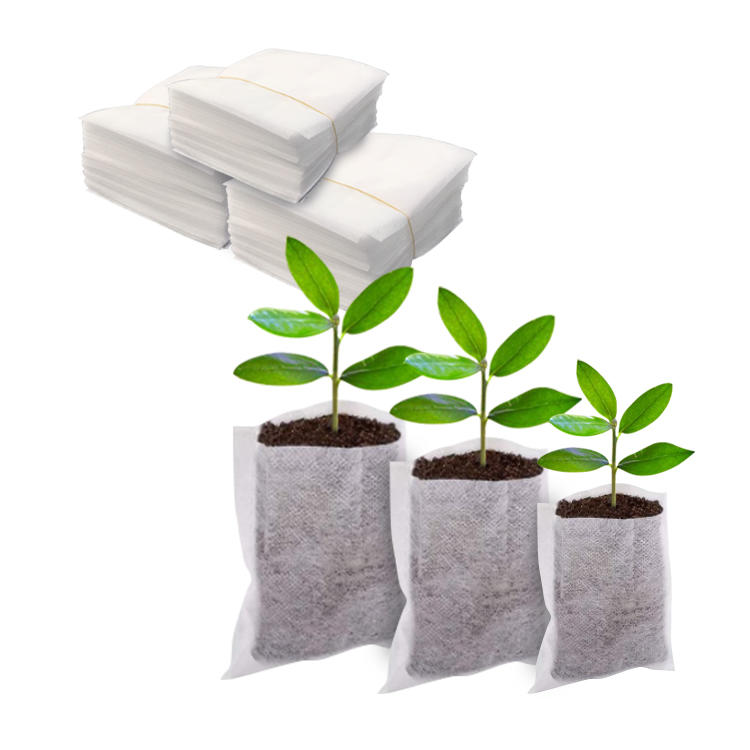 FACTORY WHOLESALE custom breathable environmentally friendly water absorption firm degradable seedling bag for tree farms garden