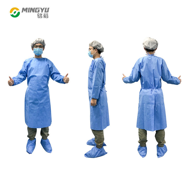 SMS non woven disposable surgical gown