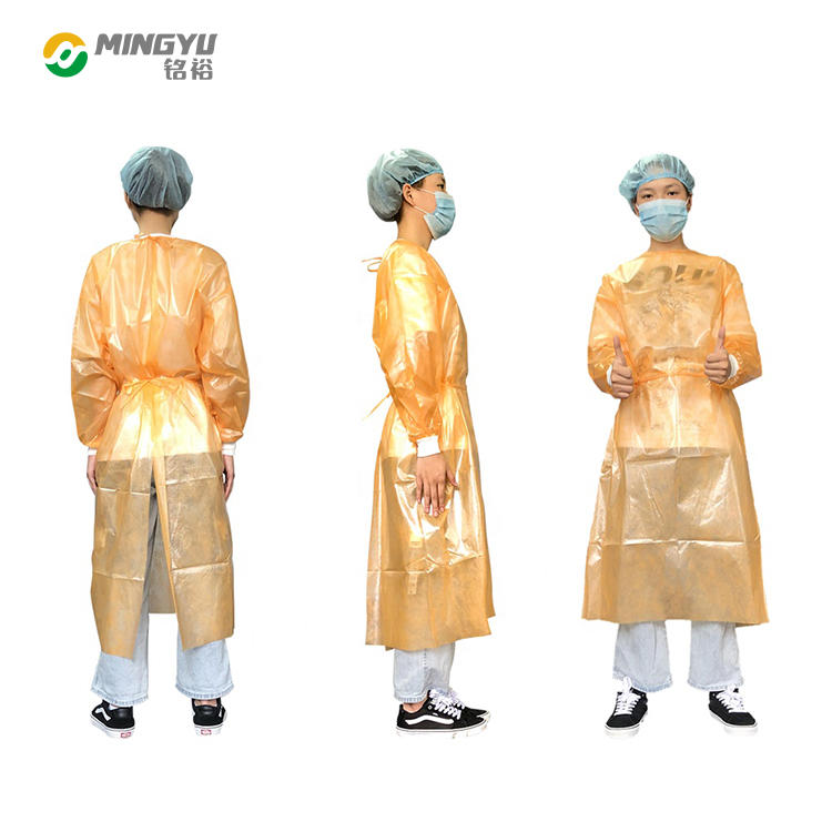 Medical pp pe nonwoven  isolation coat