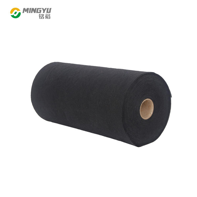 Mingyu factory breathable waterproof lining black nonwoven fabric