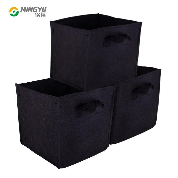 1 5 10 15 25 30gallon nonwoven fabric square felt grow bag