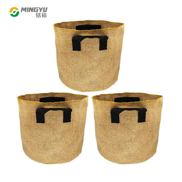 Burlap planter bag jute felt grow bag