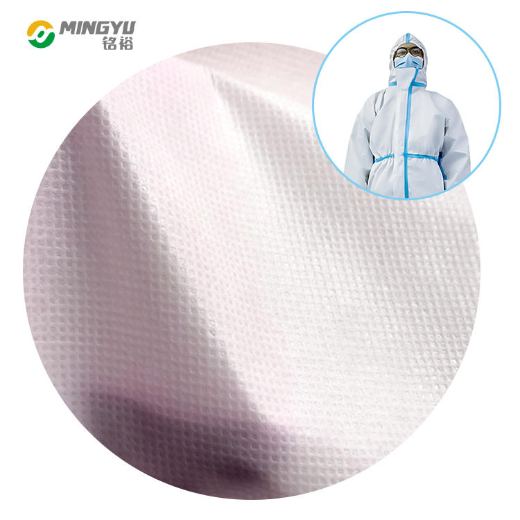 PP PE coating film nonwoven fabric for medical coverall