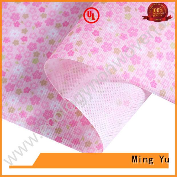 Ming Yu rolls woven polypropylene fabric Supply for handbag